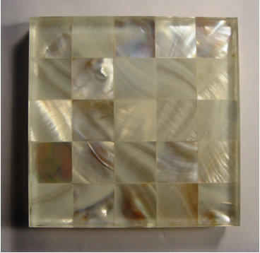 Glass Laminated Capiz Glass Laminated Shell Mother Of